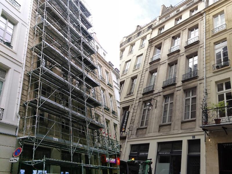 Ravalement d'une façade d'un immeuble